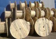 деревянные катушки,  кабельные и канатные барабаны