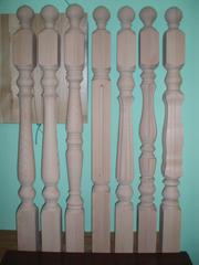 Деревянные опорные Столбы для лестницы из Дуба,  Бука,  Ясеня.