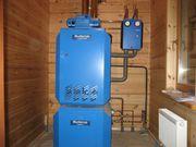 Установка электро,  твердотопливных котлов отопления
