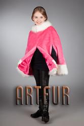 Детские кейп-пальто из эко-меха под рысь,  норку,  лису от ARTFUR