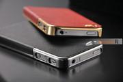 Бампер OYO Gold чехол кожа PU велюр iPhone 4 4S