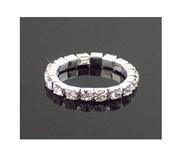 безразмерное кольцо с камнями Swarovski стразы