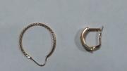 Серьги (сережки) золотые,  распаровка