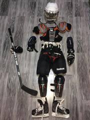 Форма хоккейная детская с сумкой и клюшкой,  комплект