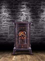 Камин Печь буржуйка чугунная Ambre 9 кВт Амбре