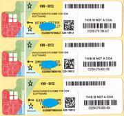 Windows 10 Home OEM 64 RUS KW9-00132 лицензионная наклейка