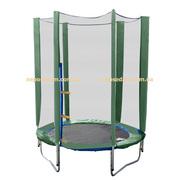 Батут для детей с защитной сеткой диаметром 140см