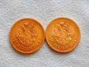 Монеты золотые Николая 2