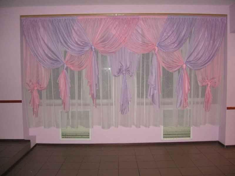 После монтажа шторы отпариваются