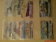 Марки почтовые разных годов,  разные. восновном корабли